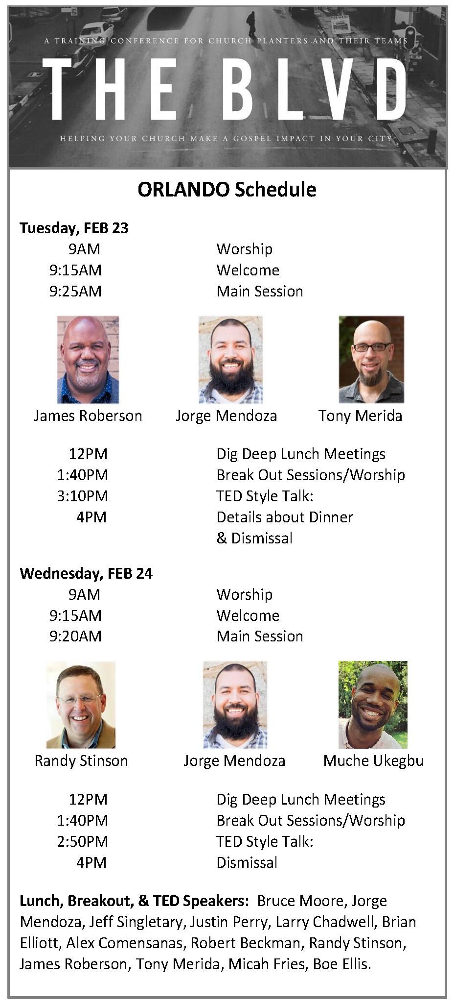 Orlando BLVD Schedule