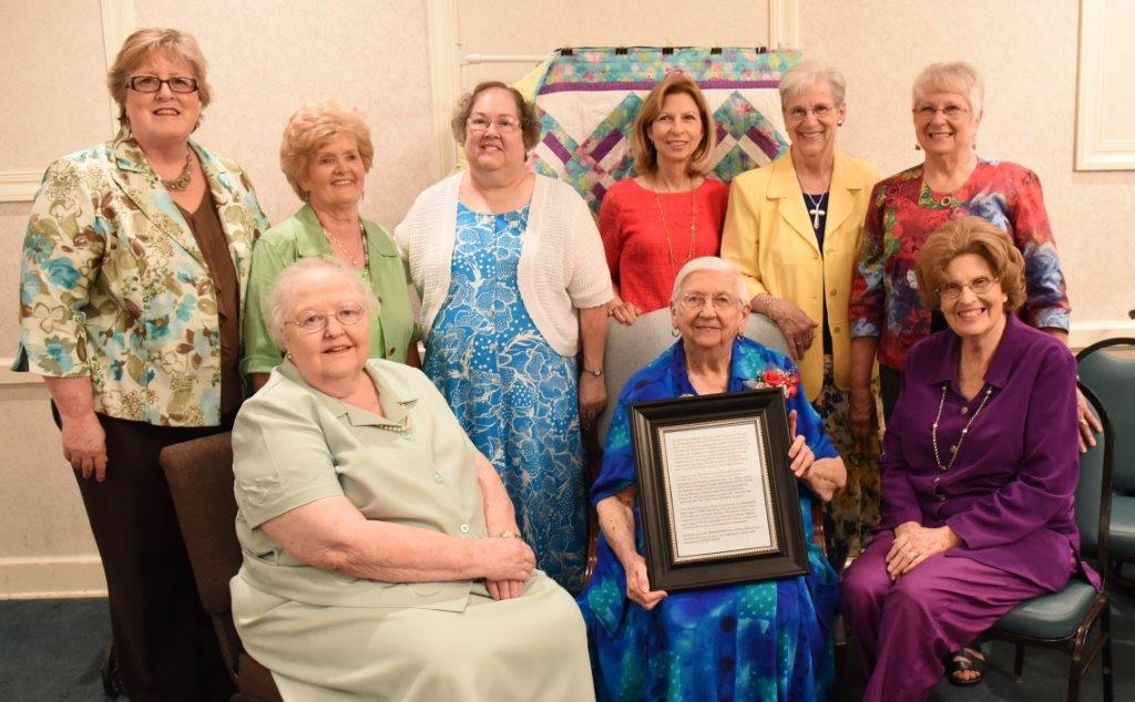 Pictured (standing from left) Cindy Bradley, Ann Coffman, Anna Guy, Helen Yates, Clysta de Armas, Carol Vandeventer and (seated) Frances Shaw, Vanita Baldwin and Oma Del Ely.