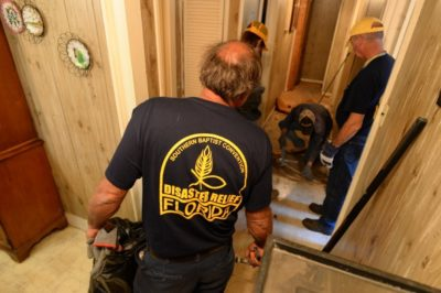 FBDR volunteers assist homeowners in flood-ravaged South Carolina  in October 2015.