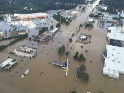 In its deployment o help Louisiana flood survivors, FBDR volunteers will set up a shower unit in hard-hit Denham Springs, La., Photo by Baptist Press-Blackhawk
