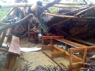 The structure of Baptist Evangelical Church of Porrier, Jean Rabel, served by pastor Garry Tanélus, reportedly has been devastated by Hurricane Matthew.