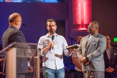 Tommy Green,  Tampa Pastor Justin Perry and Jeffery Singletary  share how Florida Baptists came 'right beside' Perry when his young congregation planted a second church in a nearby community.