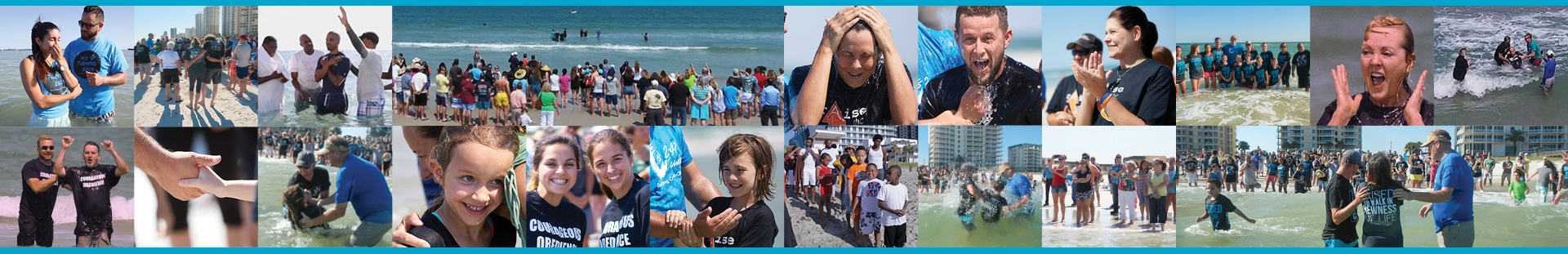 Beach Baptisms in Florida • Acts 2:41 Sunday • Baptizing Coast-to-Coast