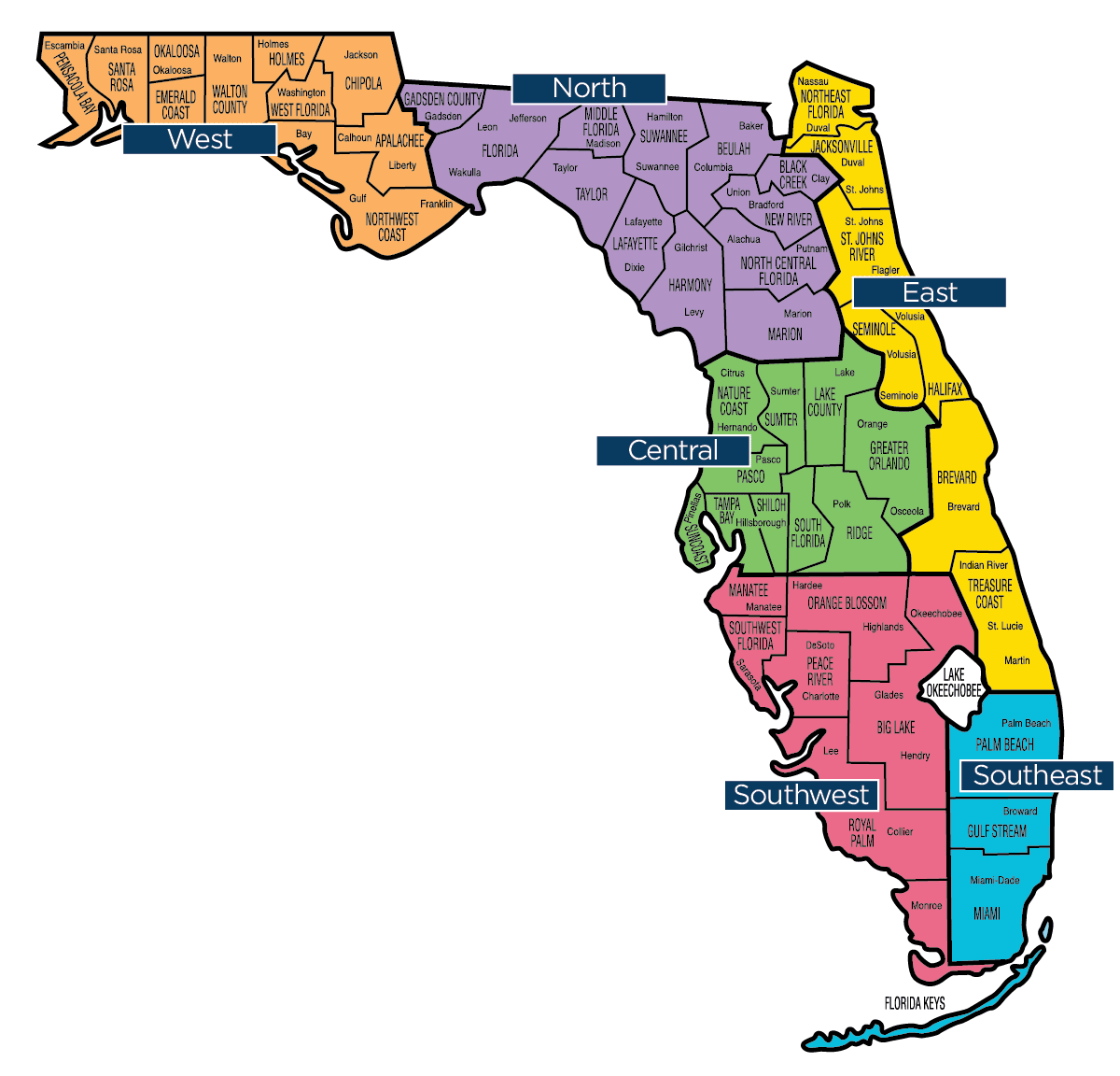 Florida Map Florida Baptist Convention Fbc