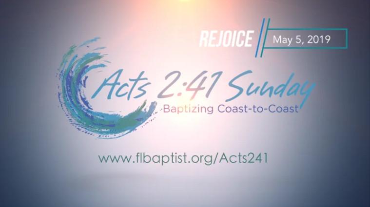 Florida Baptist Convention, Acts 2:41 Sunday, Beach Baptism,