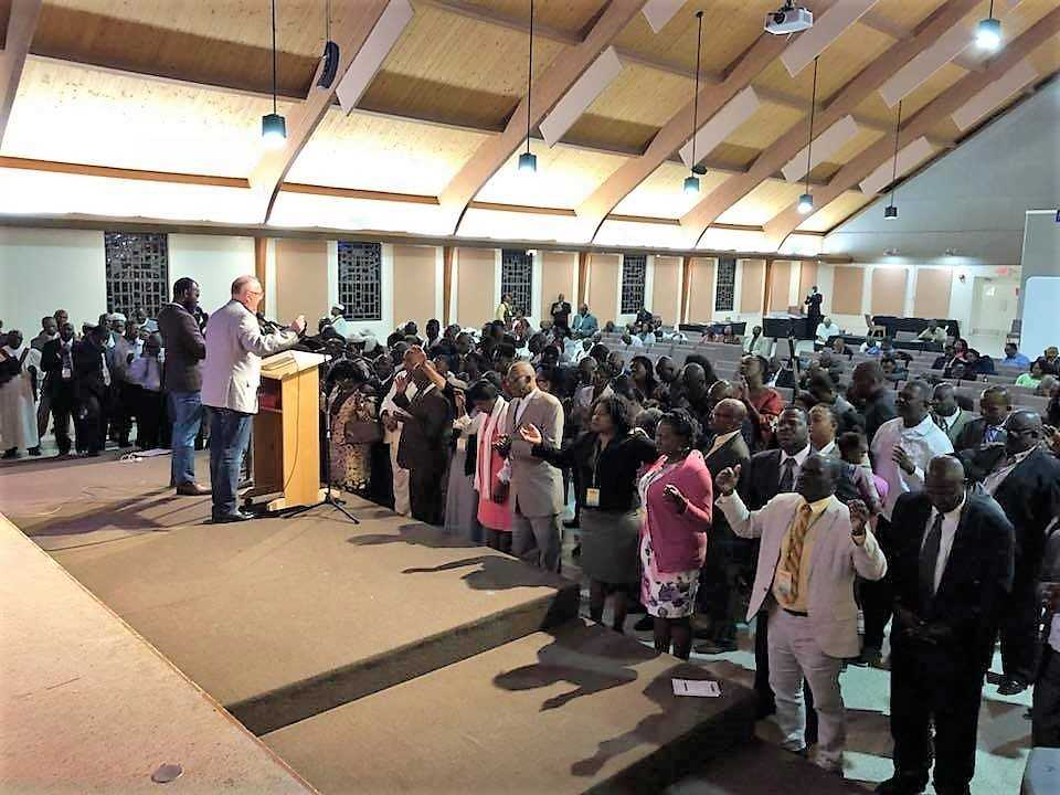 Haitian churches gather for retreat at Lake Yale