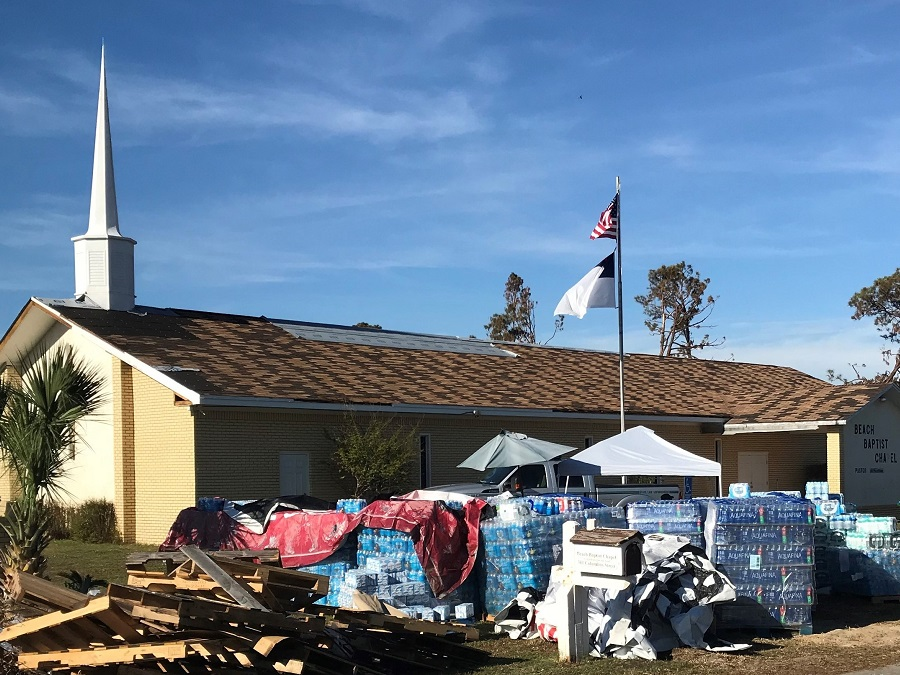 Florida Baptist Convention, Churches Helping Churches, Hurricane Michael, Disaster Relief, Beach Baptist Chapel