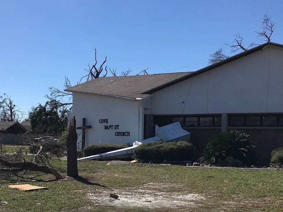 Florida Baptist Convention, Churches Helping Churches, Hurricane Michael, Disaster Relief, Cove Baptist Church