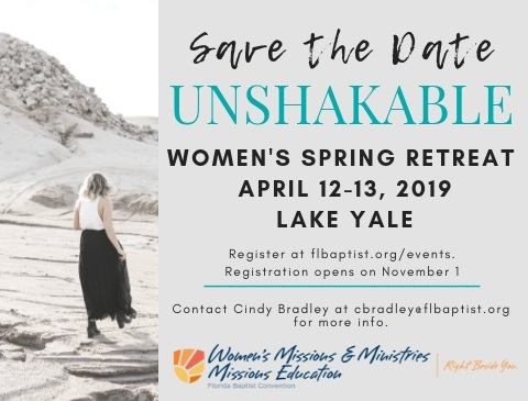 Florida Baptist Convention, Unshakeable, Women's Spring Retreat, Lake Yale
