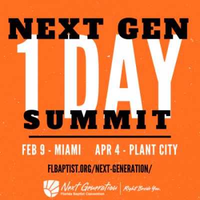 Florida Baptist Convention, Next Generation Ministries, 1 Day Summit