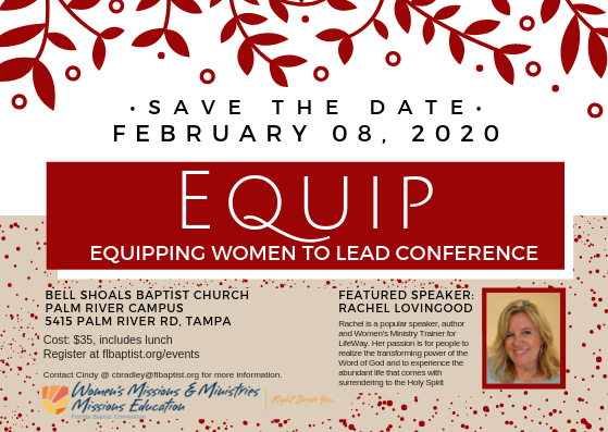 Equip, Women's Leadership Conference, Rachel Lovingood