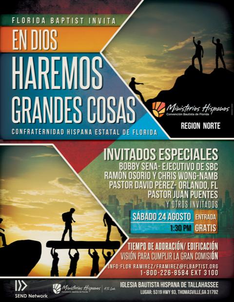 Confraternidad Hispana Estatal, Region Norte