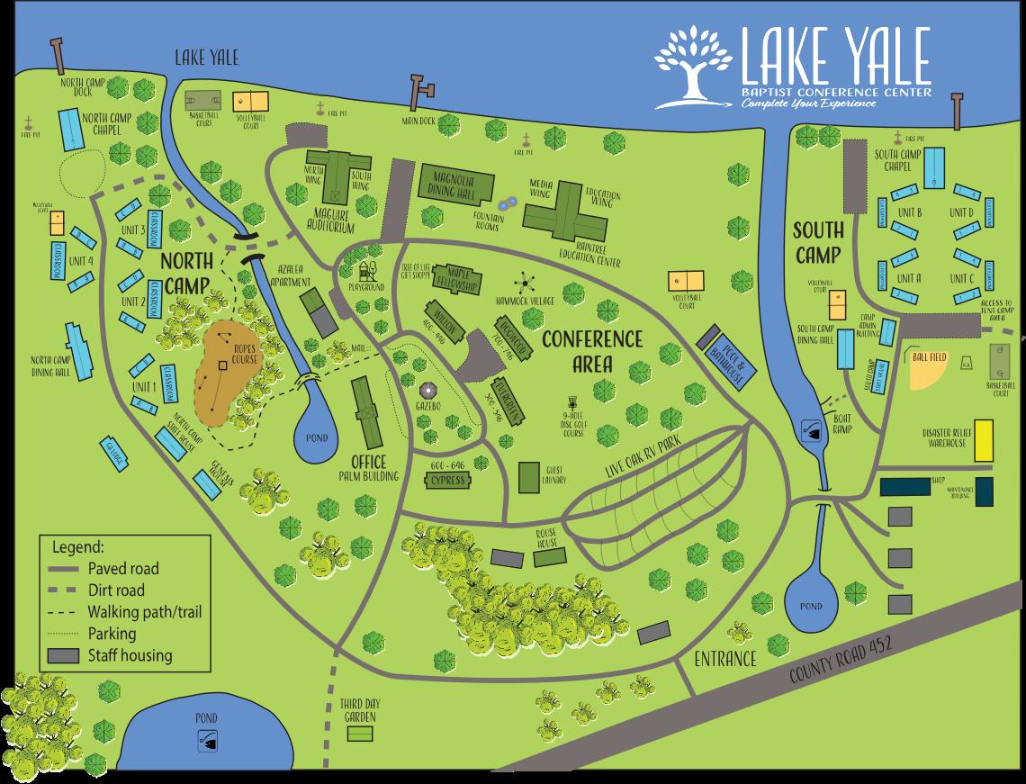 Lake Yale Campus Map