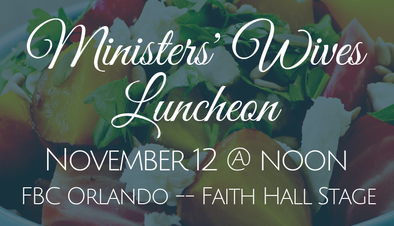 Ministers' Wives Luncheon, Florida Baptist Convention, Women's Missions & Ministry, Elizabeth Luter
