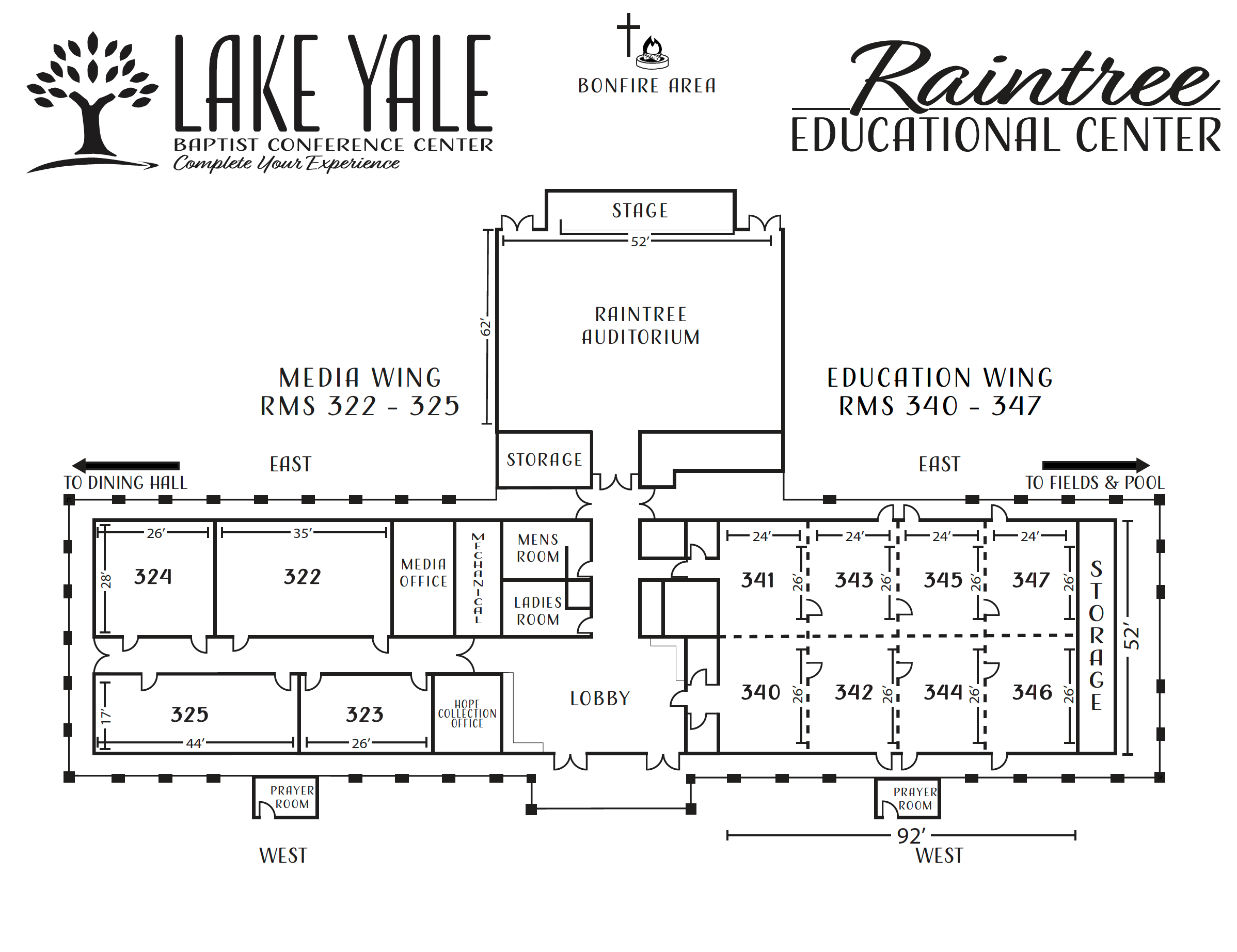 Lake Yale, Raintree Educational Center Map