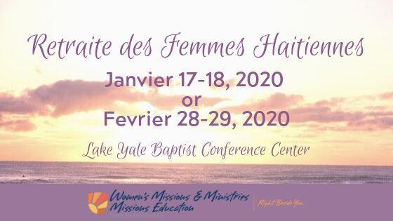 Retraite des Femmes Haitiennes, Lake Yale Baptist Conference Center