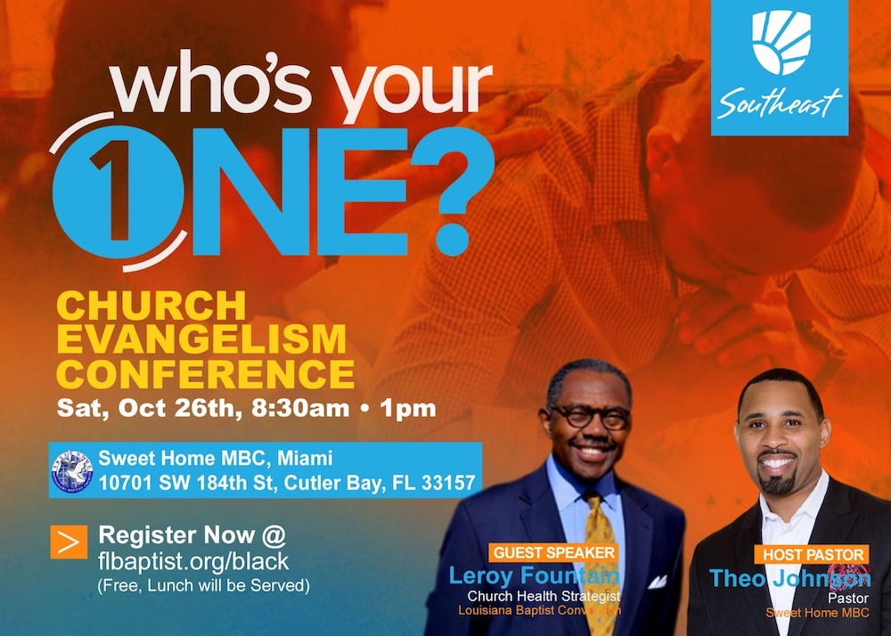 Who's Your One?, Church Evangelism Conference, Leroy Fountain, Theo Johnson