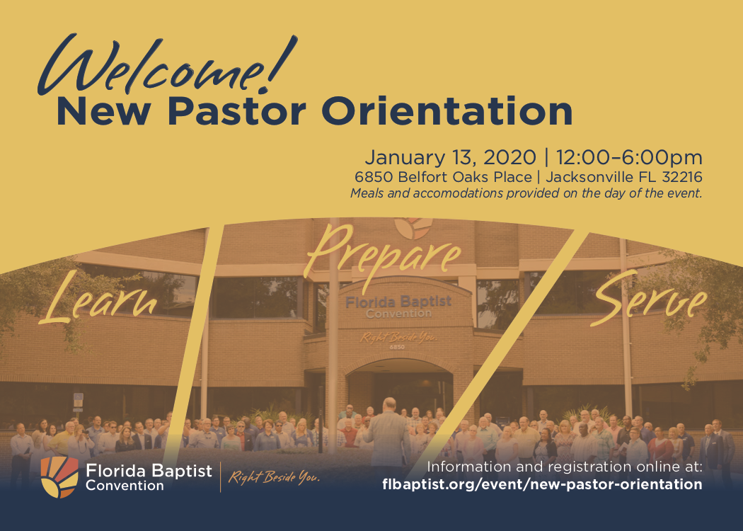 New Pastor Orientation, Florida Baptist Convention