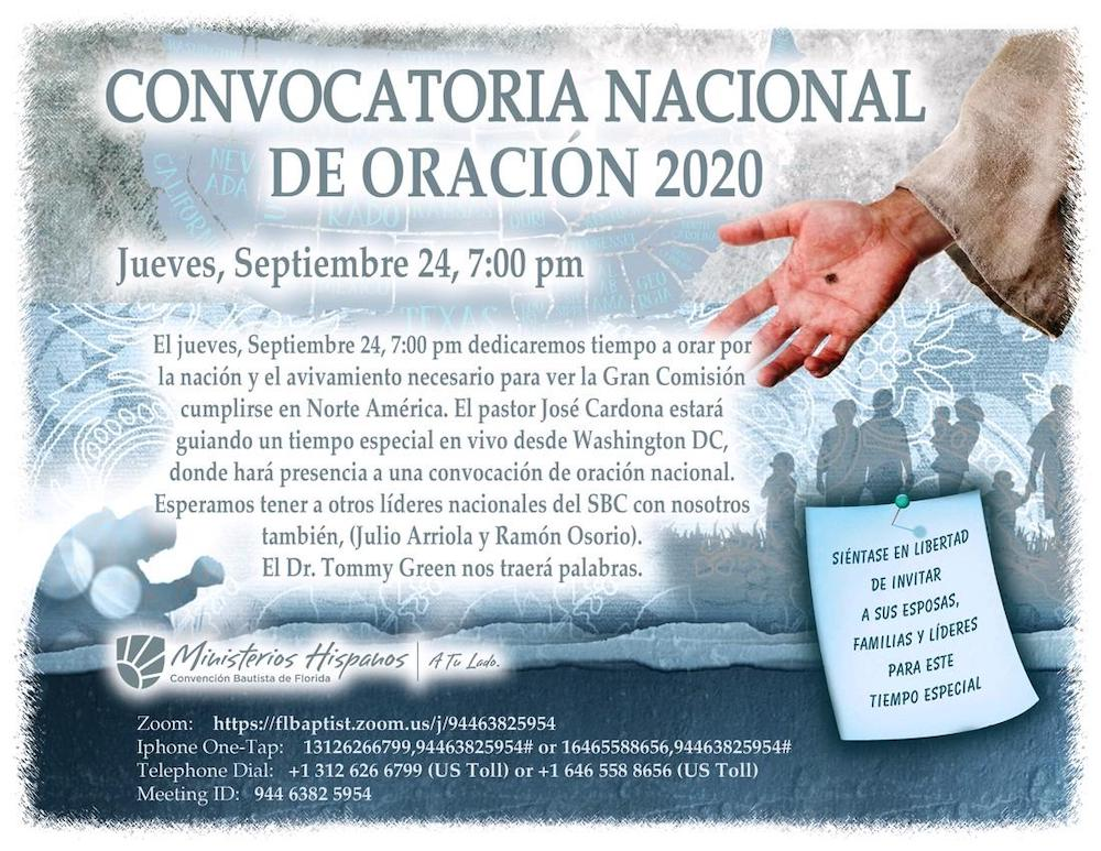 Convocatoria Nacional de Oracion
