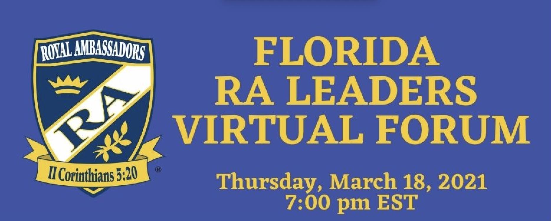 RA Leaders, Virtual Forum